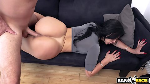 Super round booty latina entered from the back with no panties on sofa Valerie Kay