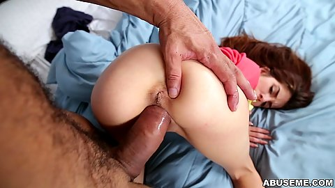 Huge cock from behind pov pussy poking tiny little girl Sally Squirt