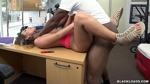 Frontal raised legs table boning a hairy office latina slut Jaye Summers willing to put out