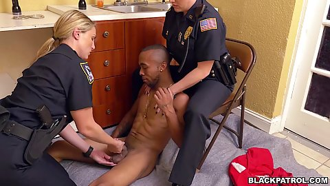 Amateur police officers females in uniform cfnm handjob and deep throat this guys dick on the floor