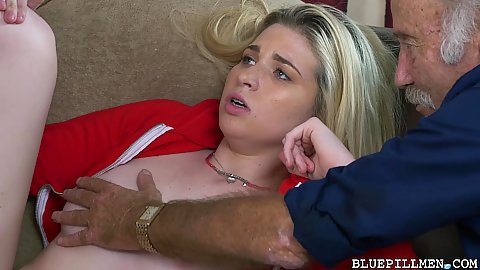 Cute faced youngster Stacie gets laid and groped by old men who want to fuck her till morning
