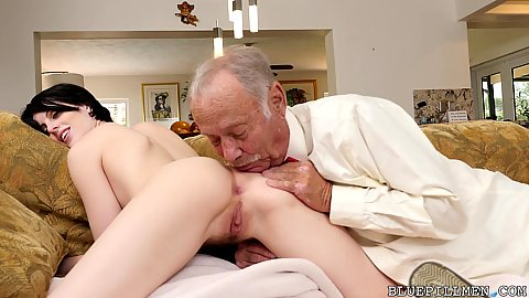 Alex Harper loves when grandpas rimjob her anus and then gently fuck her in the ass