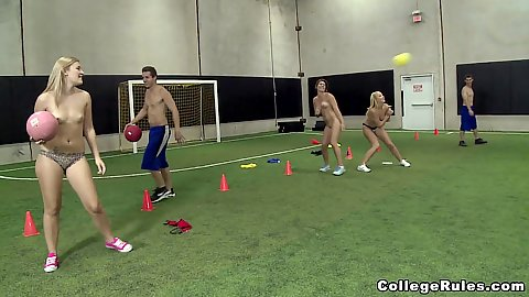 College gym glass with sport naked girls going to have an orgy now