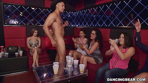 Dancing bear flipping that dick around latina sexy and white girls at cfnm party finally out for give us some fun