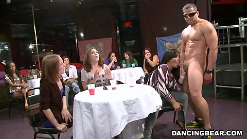 Sucking and titty fucking at a private party held only for the horniest of the bunch cfnm ladies