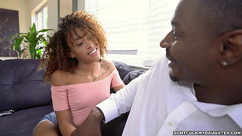 Pretty little black stepdaughter Kendall Woods gonna do some family fun