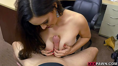 Titty fuck and table sex with meaty latina milf Sophie Leon in pov office 1 on 1