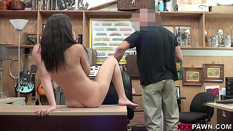 Office table naked girl Alexis Deen ready to give a big cock rocket an oral