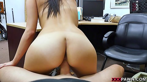 Alexis Deen grinds away on dick in pov reverse cowgirl while we talk about her deal