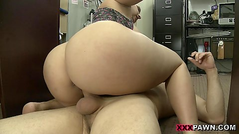 Office floor sex with big ass blonde Nina Kayy captivating scene if any