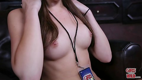Perky breasted southern lady Sarah in her favorite cowboy hat solo fingering shoving her snatch