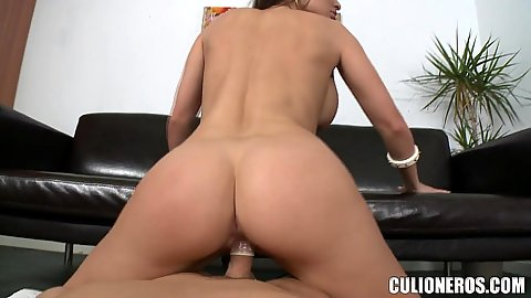 Reverse cowgirl with sweet as honey pussy office fucker Aletta Ocean and she tugs that dick in pov waiting for to shoot warm jizz in her mouth