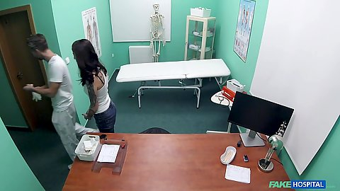 Horny Ali Bordeaux visits her doctor the hidden camera capters all the hard sex acts performed by the bad professional
