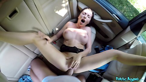 Sexy euro Ukrainian tourist was lost in public we remedied the situation by inviting her her after a pick of course for intercourse in our car in pov Lola Bulgari