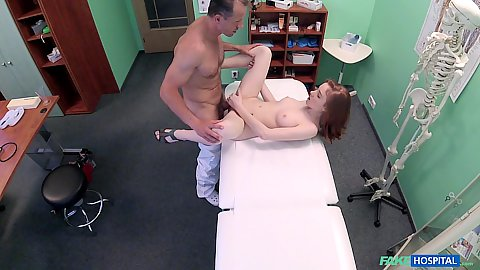 Doctor porking lovely little petite Russian 18 year old patient Redley and she has nothing against that sex is good medicine