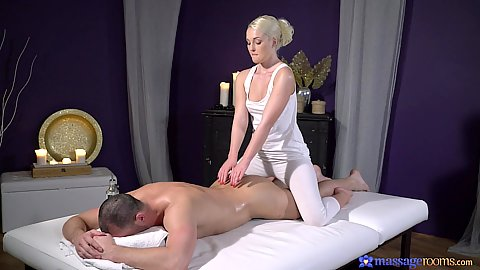 Yoga pants cfnm massage with intimate blonde lover Lovita Fate making sure her man is pleased