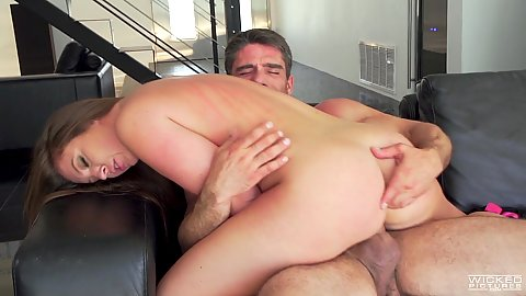 Fleshy ass and innie pussy small breasted brunette Maddy OReily riding dick with her holes