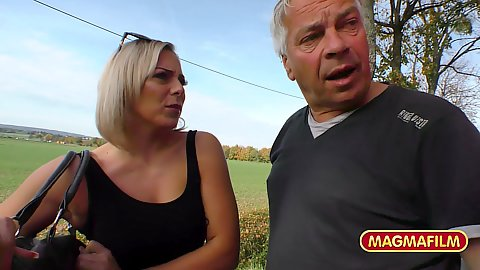 Picked up amateur milf blonde following our pervert Reinhard into his semen stained RV