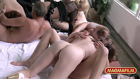 Making out kissing and finger banging no holes are left unsatisfied at our milf exchange swingers euro party
