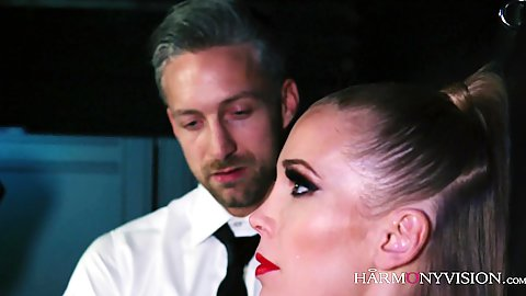 Milf euro babe is busty and horny and bondaged up in bdsm latex fingering and nipple licking Rebecca More