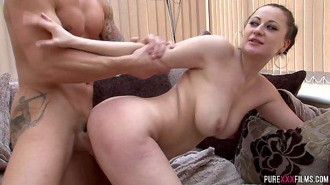 Big jugged milf stepmother rear dick sliding in her landing strip hole Lara Jade Deene