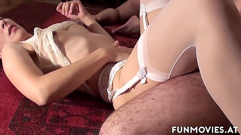 Small boobed housewife milfs getting their horny on with swapping swinger husbands dicks Jana Puff and Larissa Gold