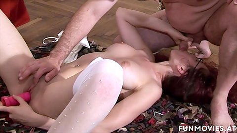 Reverse blowjob fellatio while toying her pussy hole on carpet Carol Shine