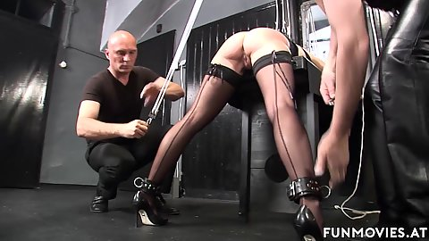 Fetish Marga is here to be the sex slave for two men bondage her up and rimjbos her anus