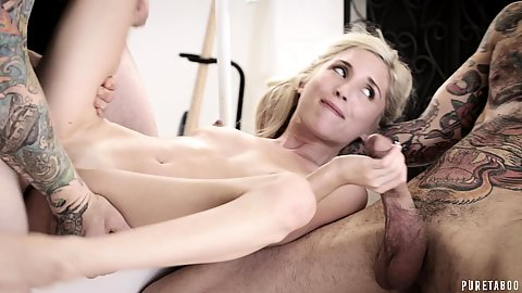 Nerdy girl not shy no more gang of boys fuck her hard and right Piper Perri