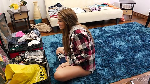Astonishing first time mgirl on our video shooting Joseline Kelly looking for something sexy in her suitcases in her room