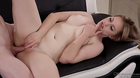 Dick banging lovely thick body girl Britney Light with missionary style fucking as well