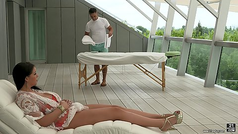 Anissa Jolie is here for her private massage with natural body this pawg girl gets naked and gets oiled and ass fingered