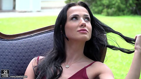 Nicole Love is a good girl well if you look at her dressed but when clothes come off two cocks wont be enough to tame her