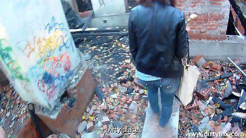 Public pick up sex leads us to an abandoned building where Diana about to take dick in her mouth