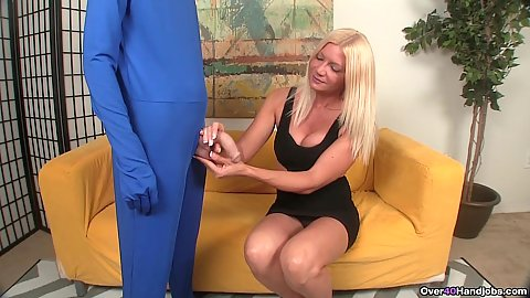 Mr penis is here for Christina Skye he is flaccid today time to jerk a bit to make it hard