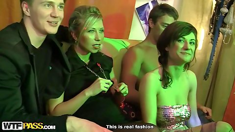 Girls at aparty suck some dick nasty boob touching and orgy with fascinating Stacy and Nastie and Joana