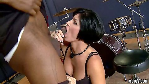 Brunette experienced cock sucking milf Shay Fox