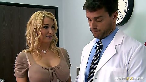 Milf Blake Rose goes to the doctor and rolls up her dress
