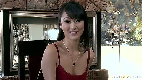 Asian Evelyn Lin blowjob while wearing clothes