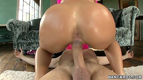 Cowgirl from oiled up ass Nicole Aniston and doggy style with big dick
