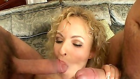 Natali Light gets gang bang blowjobs and sits on cock cowgirl