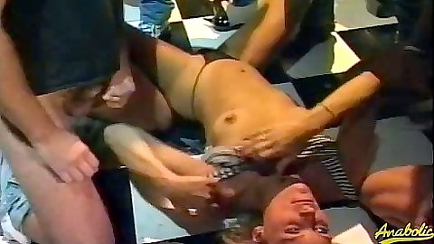 Group orgy gang bang with Debi Diamond getting filmed by many cocks