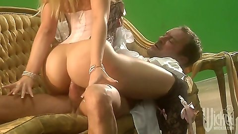 Alexis Texas cowgirl cock ride and doggy style on sofa