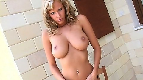 Big tits Zuzana Drabinova undressing and touching her boobies