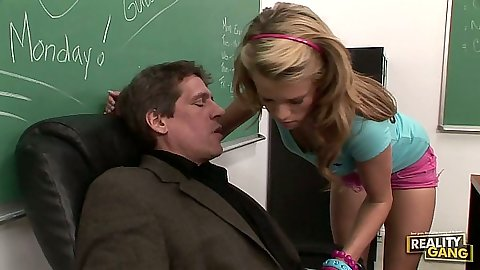 Classroom sexual seduction from Aiden Aspen and her teacher