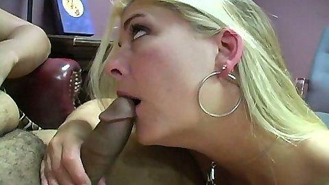 Joclyn Stone interracial blowjob and stroking shaft