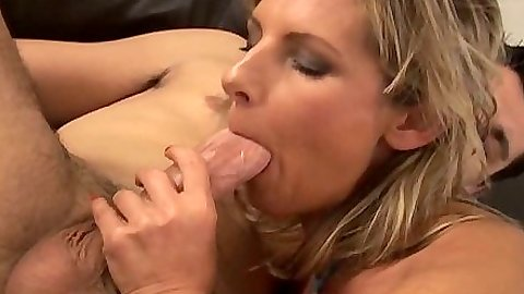 Big dick blwojob with Gyongyi licking balls and sideways anal hairy sex