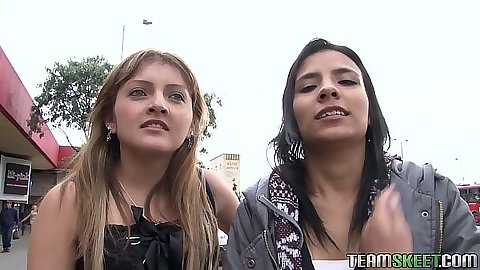 Outdoor latina cuties Abril and Lilly