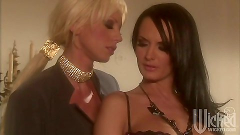 Lesbian Tanya James and Alektra Blue classy and sexy as always