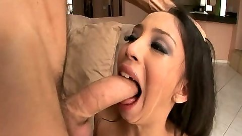 Big dick blowjob from latina Alexis Love cock barely fits